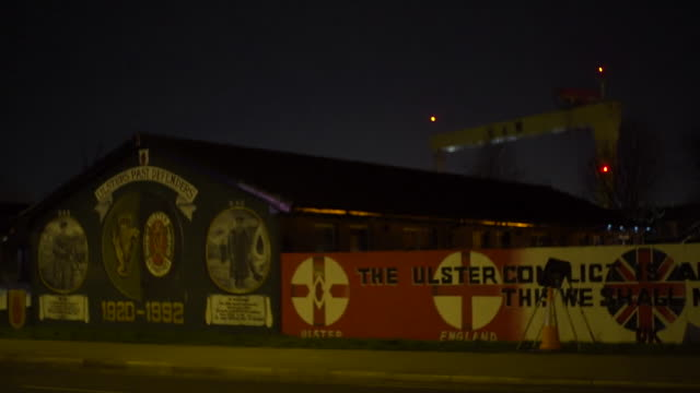 views of a uvf mural in east belfast - belfast stock videos & royalty-free footage