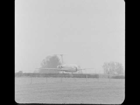 views of a vc10 aeroplane in fairford, gloucestershire; 1968 - low angle view stock videos & royalty-free footage