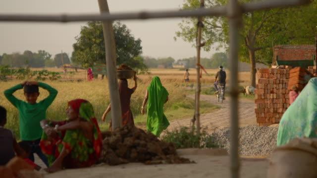 Views of a village in rural Uttar Pradesh, India.