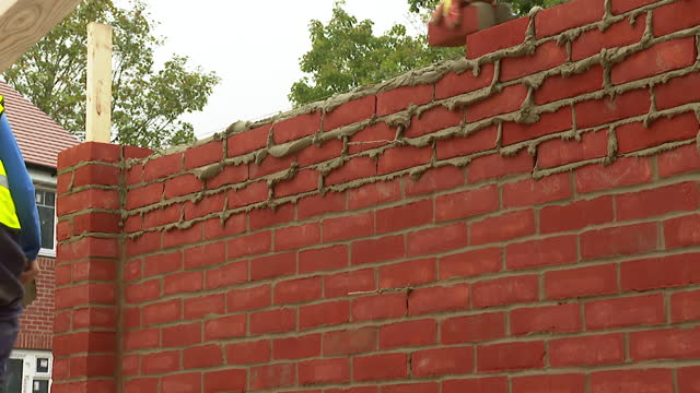 views of a wall being built - real time stock videos & royalty-free footage
