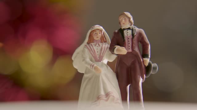 cu views of a wedding cake topper - victorian stock videos & royalty-free footage