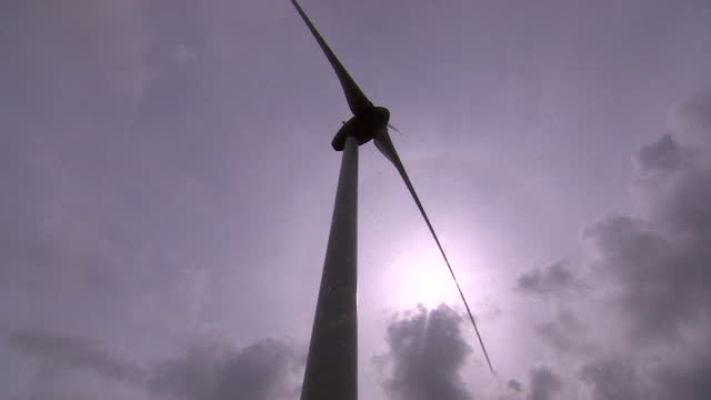 views of a wind turbine - power supply stock videos & royalty-free footage