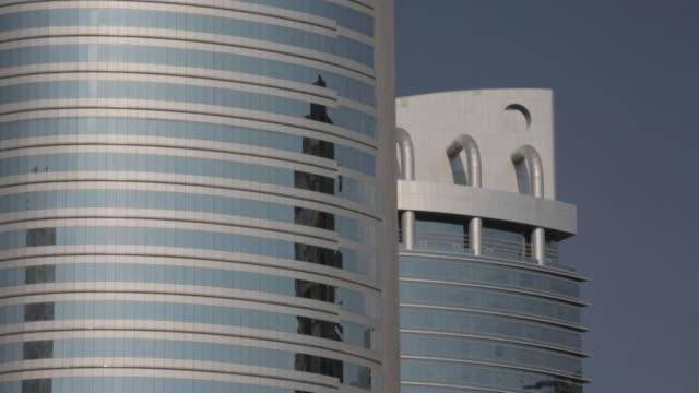 views of abu dhabi and dubai uae - skyscraper stock videos & royalty-free footage