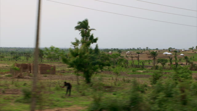 views of agricultural land in benue state, nigeria - nigeria stock videos & royalty-free footage