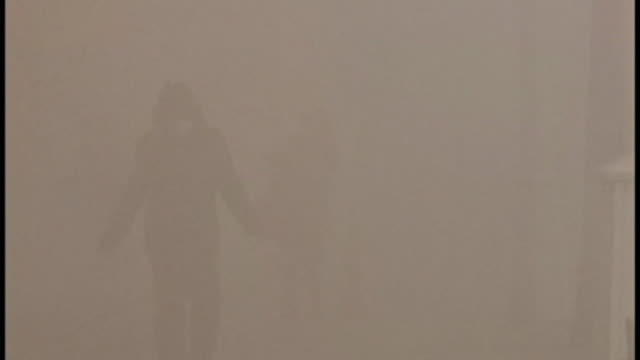 views of air pollution in beijing, china - smog stock-videos und b-roll-filmmaterial