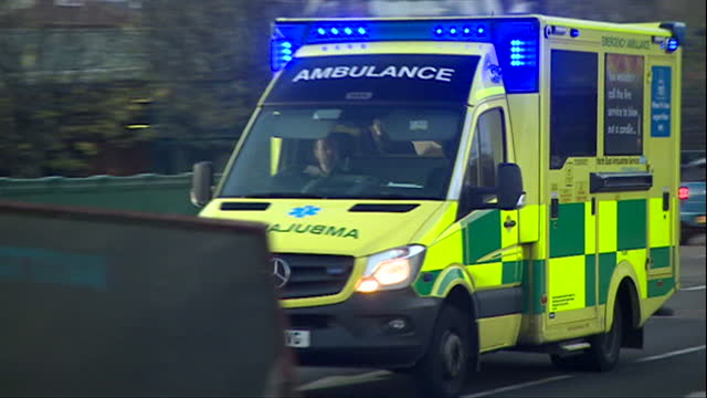 views of ambulances in various parts of the uk - flash stock videos & royalty-free footage