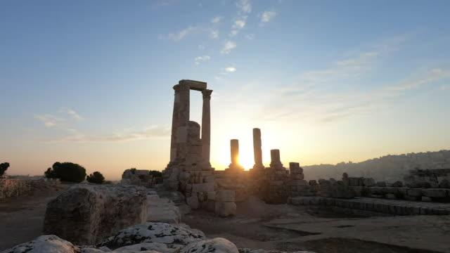 views of amman, jordan - fortress stock videos & royalty-free footage