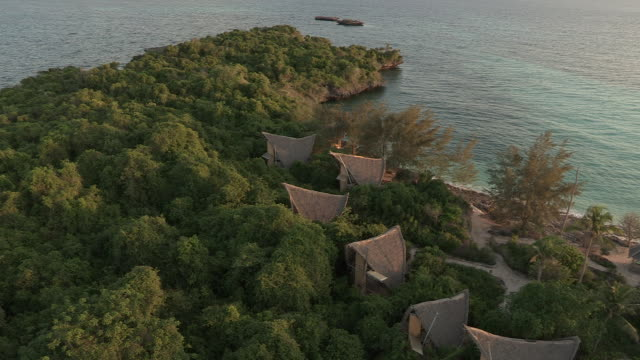 views of an eco-resort on a tropical island - eco tourism stock videos & royalty-free footage