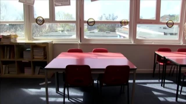 views of an empty classroom during the coronavirus lockdown - study stock videos & royalty-free footage