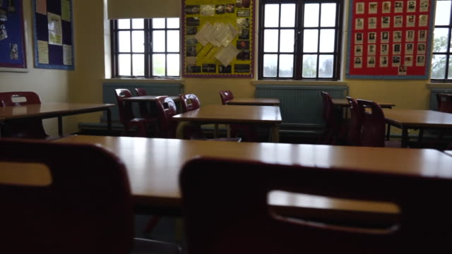 views of an empty classroom - uk stock videos & royalty-free footage