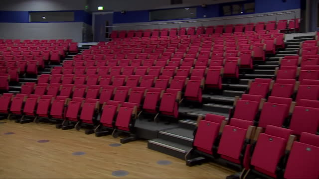 views of an empty lecture hall in a university - steps stock videos & royalty-free footage