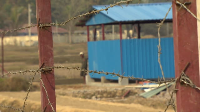 Views of an empty 'reception centre' for returning Rohingya refugees in Rakhine State Burma