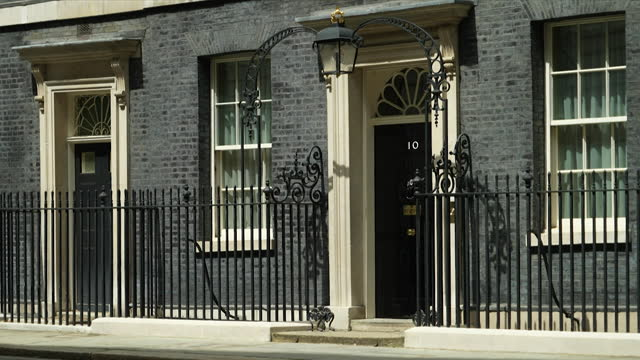views of an nhs flag outside downing street - symbol stock videos & royalty-free footage