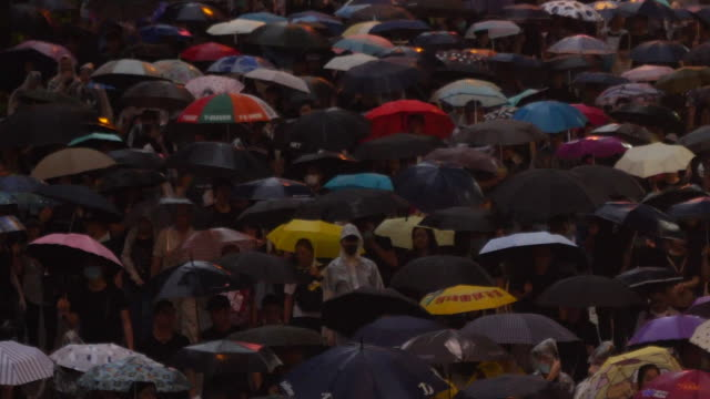 views of an 'umbrella protest' in hong kong - tranquility stock videos & royalty-free footage