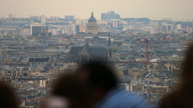 views of and from the sacré-cœur, paris, france - french culture stock videos & royalty-free footage