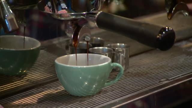 Views of baristas making coffee