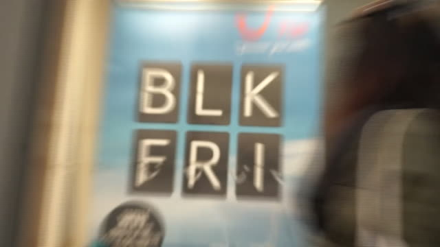 views of black friday sales signs - black friday stock videos & royalty-free footage