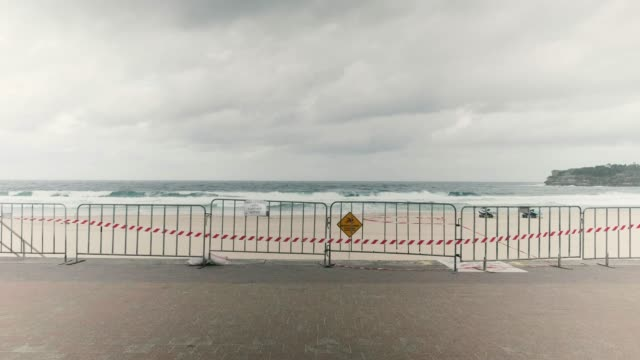 views of bondi beach. further restrictions on travel and movement have been put in to place as the federal government works to tackle the spread of... - lockdown stock videos & royalty-free footage