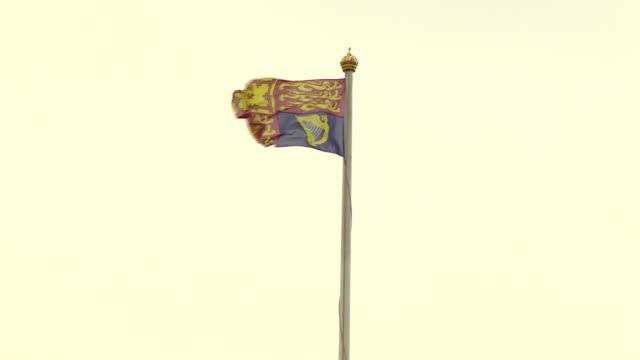 views of buckingham palace - pole stock videos & royalty-free footage