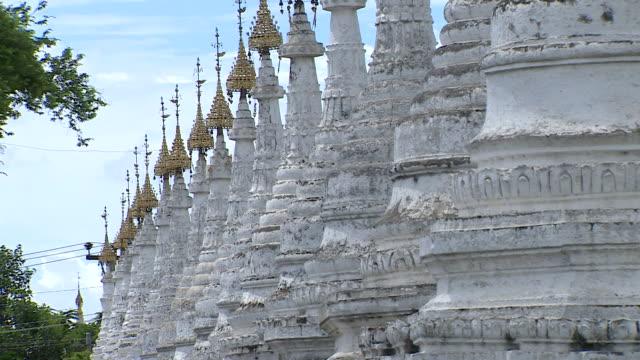Views of Buddhist temples in Mandalay Burma