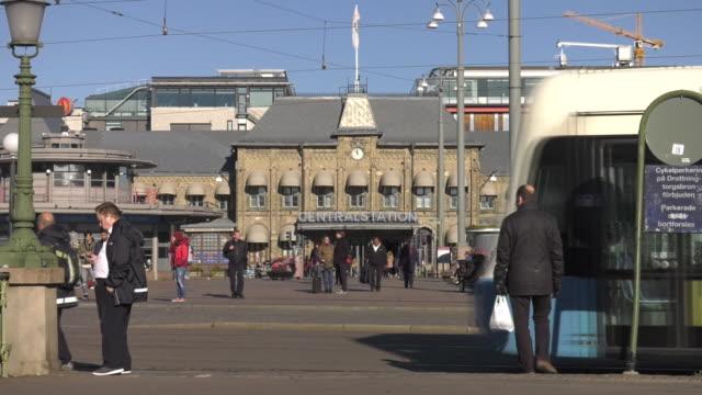 views of centralstation in gothenburg sweden - tram stock videos & royalty-free footage