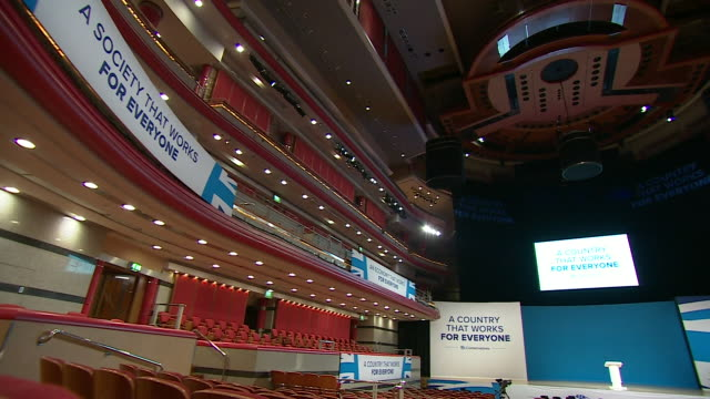 views of cleaners tidying up and people exiting after the conservative party conference in birmingham has finished - housework stock videos & royalty-free footage