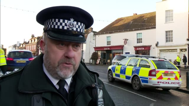 views of coffee shop in westerham, interview with chief inspector and eyewitness; chief inspector roscoe walford interview sot - walford stock videos & royalty-free footage
