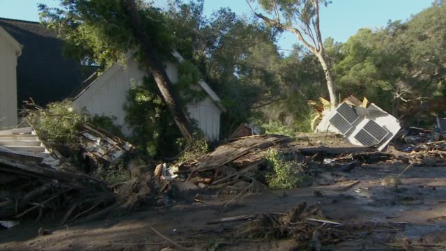 Views of damage caused by the California mudslide