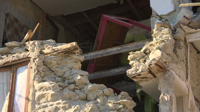 views of damaged buildings and rubble in pescara italy after the region was hit by a devastating earthquake - rubble stock videos & royalty-free footage