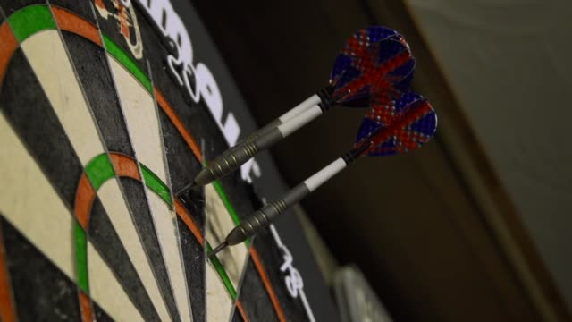 views of darts being played - dart board stock videos & royalty-free footage