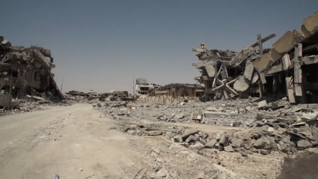 Views of destroyed buildings in Mosul