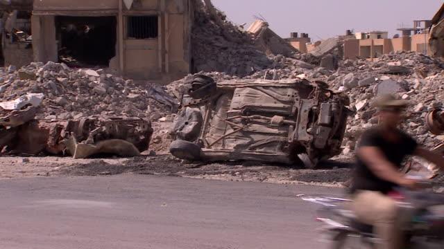 Views of destruction in Raqqa Syria