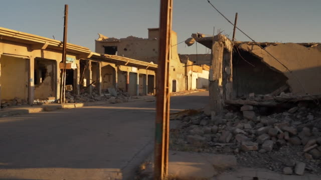 views of destruction in sinjar iraq caused by the islamic state - ninawa stock videos & royalty-free footage