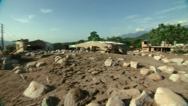 Views of devastation caused by a landslide in Mocoa Colombia