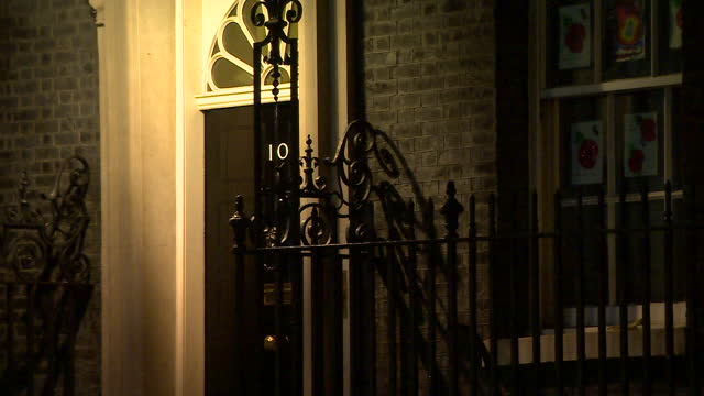 views of downing street at night - downing street stock videos & royalty-free footage