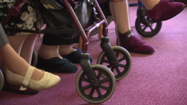 views of elderly people in a care home - foot stock videos & royalty-free footage
