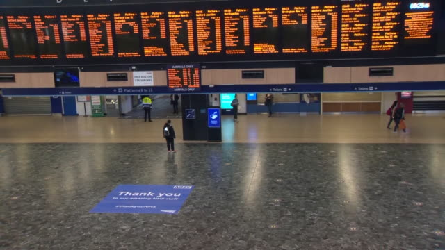 "views of euston station during the coronavirus lockdown - ""bbc news"" stock videos & royalty-free footage"