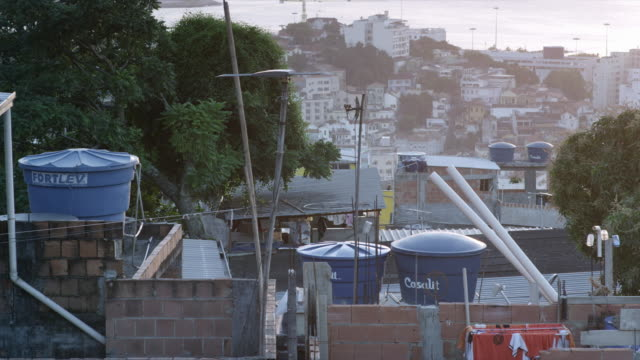 views of favelas in complexo do alemão, rio de janiero - population explosion stock videos & royalty-free footage