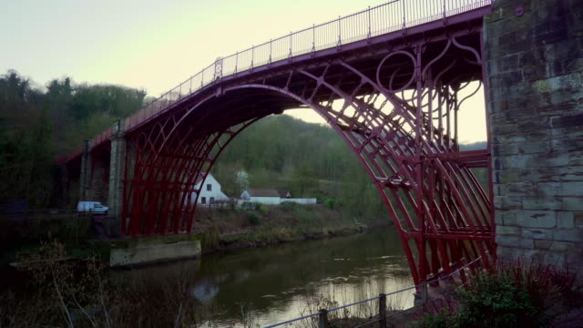 views of first ever cast iron bridge, shropshire - fade in video transition stock videos & royalty-free footage