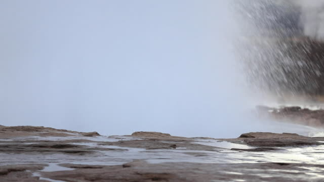 views of geysers in iceland - geyser stock videos & royalty-free footage