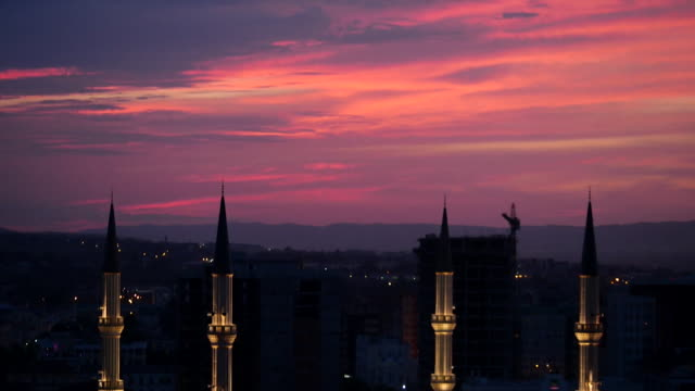 views of grozny chechnya at night - grosny stock-videos und b-roll-filmmaterial