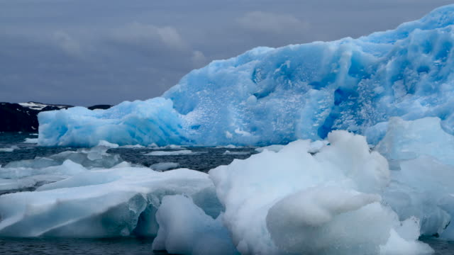 Views of icebergs in Antarctica