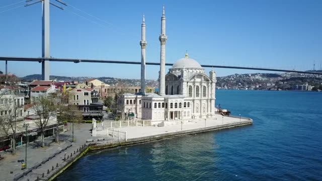 views of istanbul during coronavirus lockdown - istanbul stock-videos und b-roll-filmmaterial
