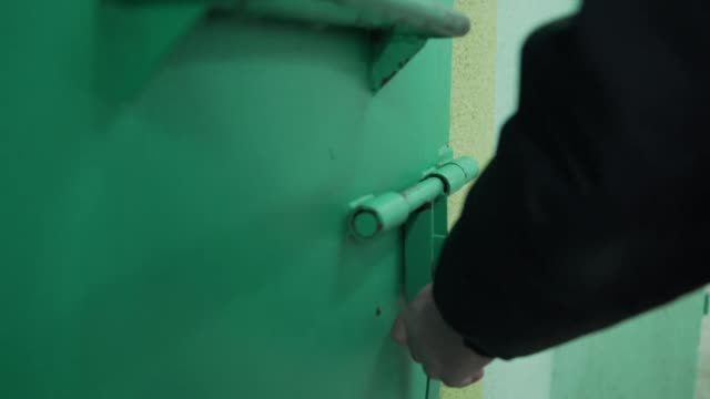 views of jack shepherd's prison cell in tbilisi georgia - prison window stock videos & royalty-free footage