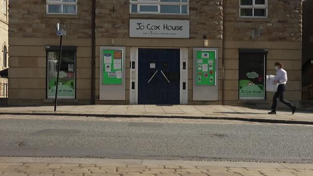 views of jo cox house in batley - dedication stock videos & royalty-free footage