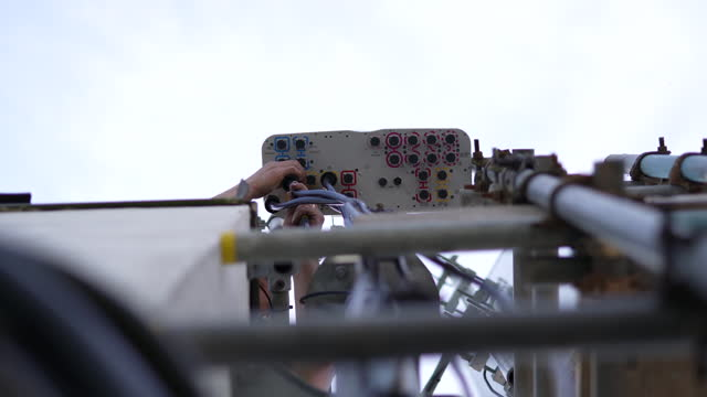 views of kingston upon hull and telecoms rigging team replacing huawei 4g with nokia 5g network systems at the muswell court site in hull, u.k., on... - computer network stock videos & royalty-free footage