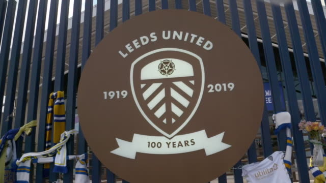 views of leeds united's elland road stadium - gate stock videos & royalty-free footage
