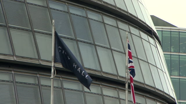 views of london's city hall - town hall stock videos & royalty-free footage