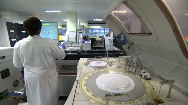 Views of machinery in a medical laboratory