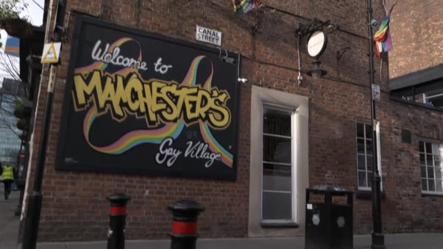views of manchester's gay village - village stock videos & royalty-free footage